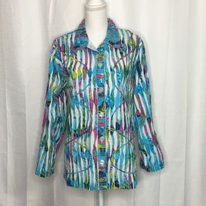 Tantrums Ripped Button Front Jacket Size 1X
